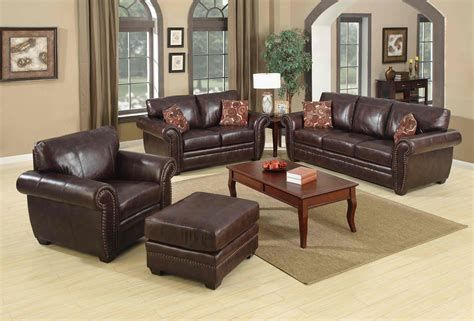 traditional living room ideas with leather sofas what color to paint living room with brown leather