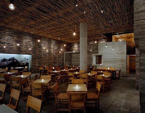 woodwork restaurant fantastic wood concrete and twigs restaurant design in