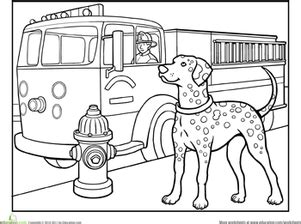 Best Photos Of Dalmatian Fire Safety Printable Fire Blaze Truck Boy Coloring Page