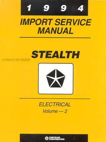 how to download repair manuals 1995 dodge stealth on board diagnostic system 1994 dodge stealth repair shop manual original 2 vol set r t and turbo