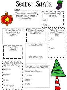 printable secret santa questionnaire secret santa gift tags and free printable on pinterest