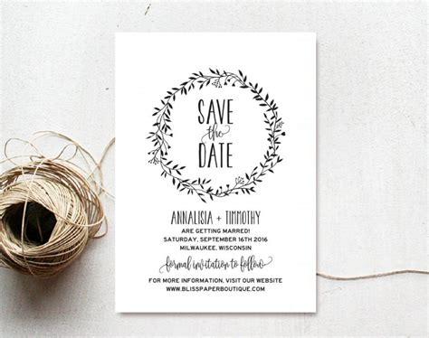 save the date templates save the date template save the date printable rustic
