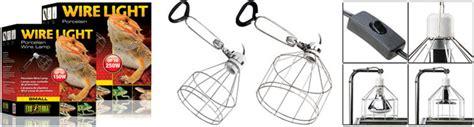 exo terra wire light small neherp lighting fixtures all