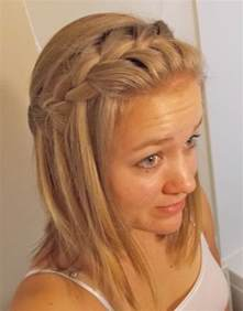 Super Easy Hairstyles For Medium Length Hair by Waterfall Braid For Medium Length Hair Cute And Easy To
