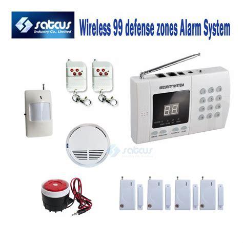 wireless 99zone autodial phone burglar pir home security