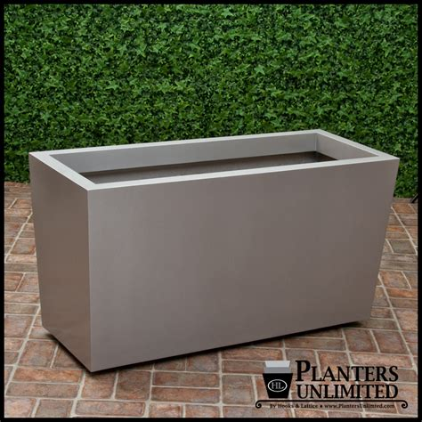Fiberglass Planters by Modern Tapered Fiberglass Commercial Planter 72in L X 18in