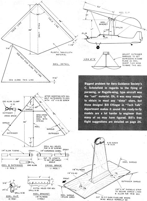 make a blueprint for free flexwings aka para wings article plans may june 1963 american modeler magazine airplanes