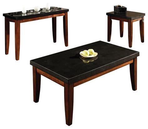Shop Houzz Steve Silver Company Montibello Rectangular 3 Contemporary Coffee Table Sets