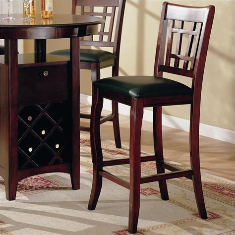 Maxy Ori Cherry Store New newhouse 29 quot bar stool with grid back black faux leather