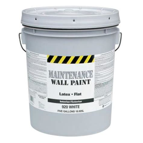 Home Depot 5 Gallon Interior Paint Glidden Maintenance 5 Gal Flat Interior And Exterior Paint 920 05 The Home Depot