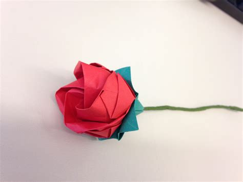 Rosa De Origami - rosa em origami plicat elo7