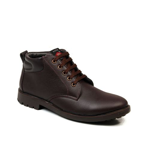 mens leather boots casual mens boots brown leather casual boot price in india buy