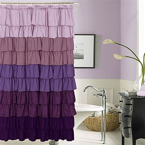 bed bath and beyond ruffle shower curtain flamenco ruffled shower curtain bed bath beyond