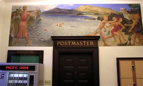 Pacific Grove Post Office by Pacific Grove Ca New Deal Wpamurals