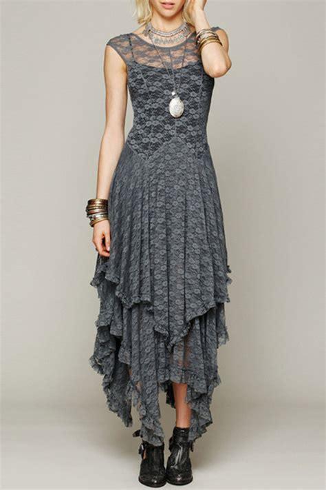 dress style fashion crochet lace asymmetrical dress oasap