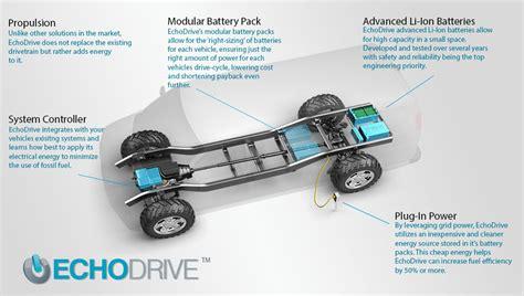 tesla how it works echodrive converts fleet vehicles to in hybrids