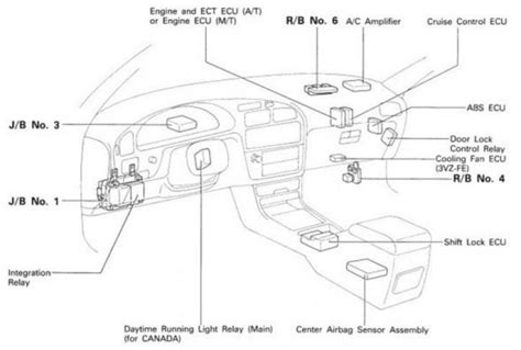 Toyota Camry Interior Parts Diagram by Toyota Camry Ecu Wiring Diagram Toyota Wiring Diagram