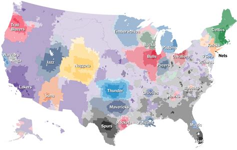 nba map which team do you cheer for an n b a fan map the new york times