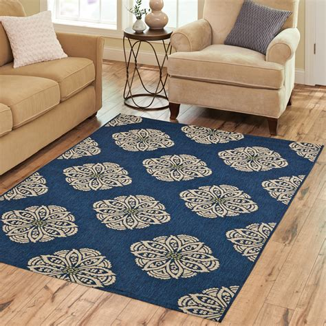 Outdoor Rug Walmart Better Homes And Gardens Medallion Indoor Outdoor Polypropylene Area Rug Walmart