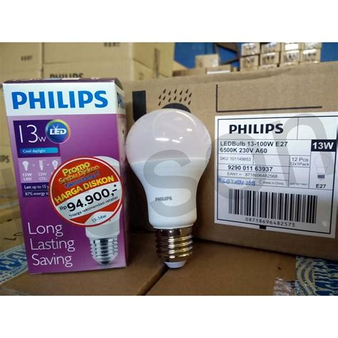 Lu Philips Led 13w philips led bulb 13w 1400 lumens elevenia