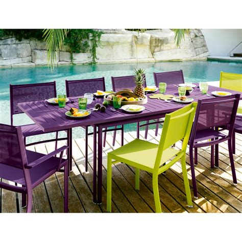 table jardin table de jardin rectangle avec allonge costa fermob achat en ligne