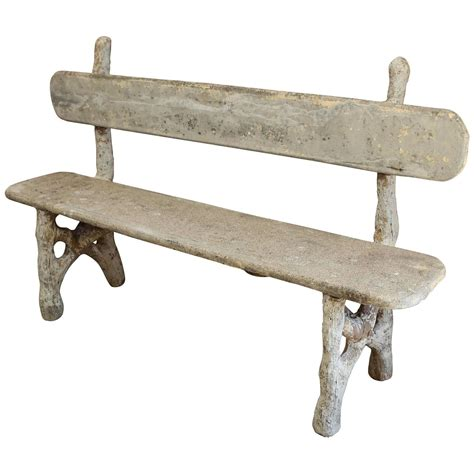faux bois bench faux bois garden bench at 1stdibs
