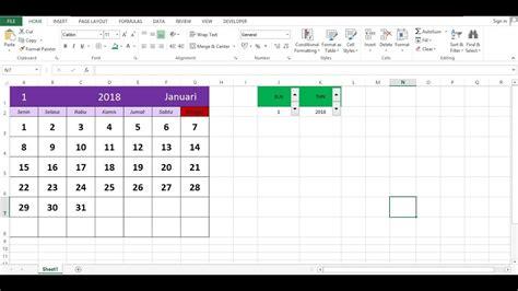 tutorial excel mudah cara membuat kalender otomatis pada excel dengan mudah dan
