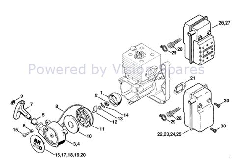 stihl leaf blower parts diagram scintillating stihl backpack blower parts diagram