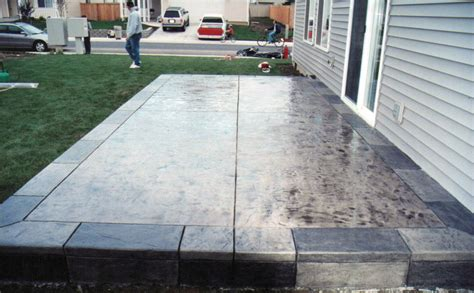 backyard cement patio ideas concrete backyard ideas large and beautiful photos