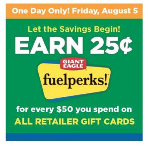 Gift Cards Giant Eagle - 25 in fuel points for every 50 in gift cards at giant eagle visa mc included
