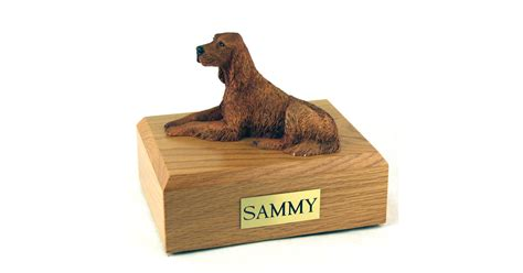 irish setter dog figurine dog irish setter figurine pet cremation urn