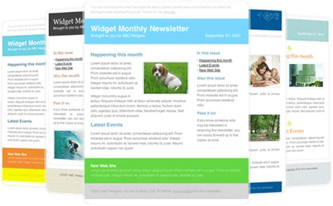 outlook newsletter template 30 free great looking html email templates caign monitor