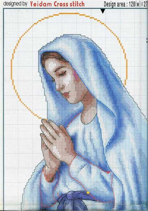 imagenes de la virgen maria para bordar schemi per ricami punto croce ricamoio