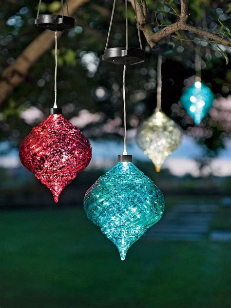 hanging onion solar ornament outdoor living pinterest