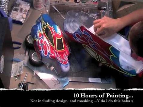 Baggy Flami airbrushing rc shells truggy buggy tribal flames