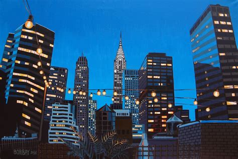 building painting painting process the chrysler building at magic hour borbay