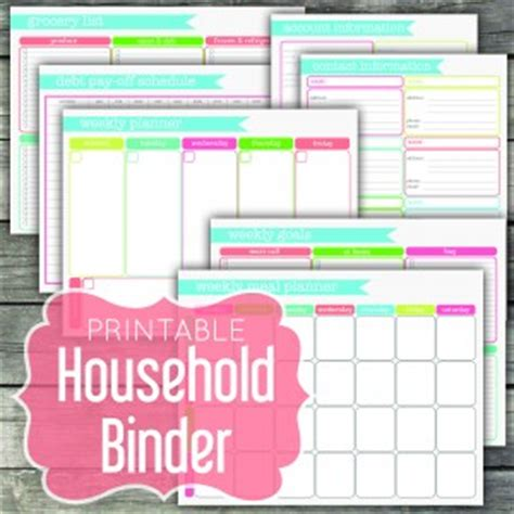 free printable household notebook planner pages printable love bundle i heart planners