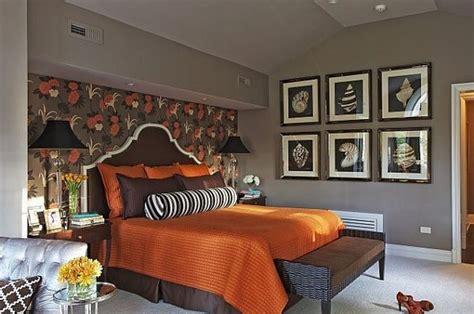 orange schlafzimmerdekor schlafzimmer braun gestalten 81 tolle ideen