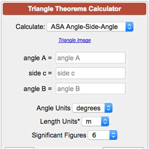 calculator soup triangle theorems calculator