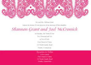 paisley wedding invitation template vector 123freevectors