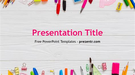 Free School Powerpoint Template Prezentr Powerpoint Templates Free Powerpoint Templates School