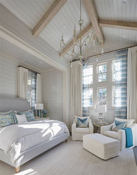 Bedroom With Vaulted Ceiling Florida House With New Coastal Design Ideas Home
