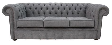 Fabric Chesterfield Sofa Uk Designersofas4u Buy Pewter Fabric Chesterfield Sofa Uk