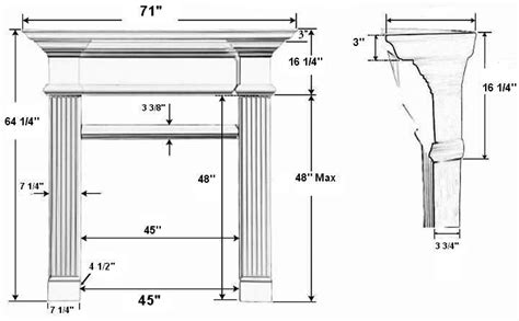 Fireplace Mantel Proportions by A Plus Inc Candler 42