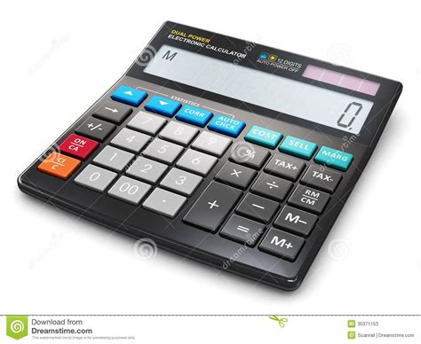 office electronic calculator stock photos image 35371153