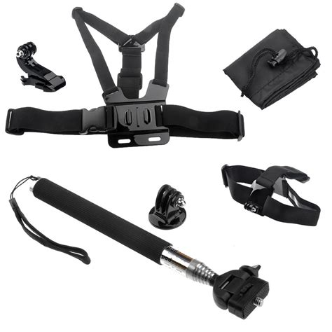 gopro harness free shipping gopro chest harness mount monopod tripod adapter for