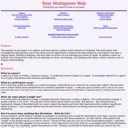 Multigenre Research Paper Assignment by Multi Genre Research Paper Assignment