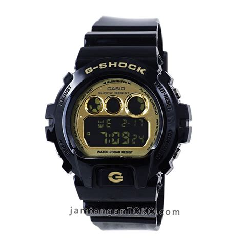 Tl Ori Real Pict gambar jam tangan g shock dw 6900cb 1 black gold glossy