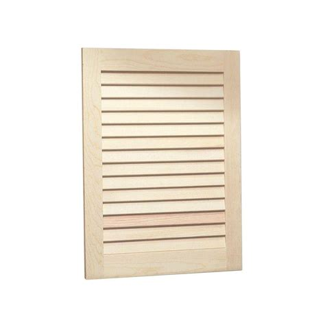 louvered cabinet door panels louvered 16 in w x 26 in h x 4 1 2 in d frameless
