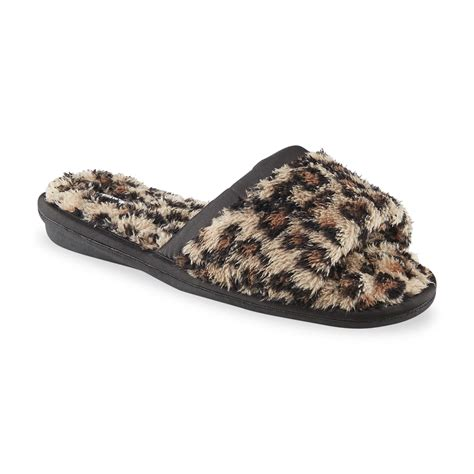 womens leopard slippers pink k s charlette brown black leopard print